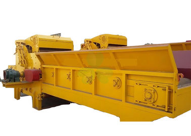 China Yellow Wood Sawdust Machine , Heavy Duty Wood Chipper Machine 5.5 Kw supplier
