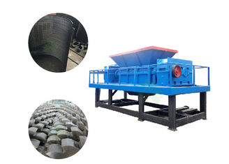 China 6-8t/H Capacity Quad Shaft Shredder / Steel Shredder Machine With 30pcs Knives supplier