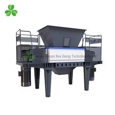 China Double Shaft PVC / PP Plastic Scrap Grinder Machine 55Crsi Blade Material supplier