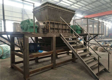 China Hospital Waste Shredder Machine Double Shaft Garbage Disposal Plant supplier
