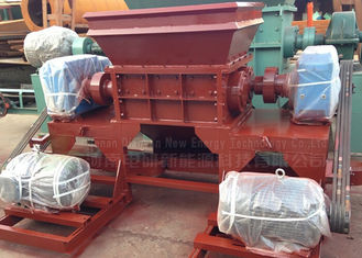 China Twin Shaft Industrial Shredder Machine Rubber Tire Shredder 2.5 Tons Capacity supplier
