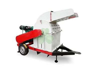 Energy Saving Grass Crusher Machine / Industrial Wood Pallet Crusher 4pcs Blades