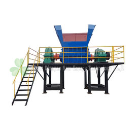 China 2 Knives Single Shaft Shredder Machine For Aluminum Scrap Metal Low Loise distributor