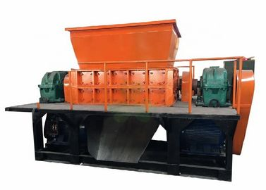 China Double Shaft Industrial Shredder Machine For Plastic Waste Container Low Noise factory