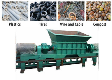 China PC Auto Control Waste Pvc Shredder Machine / PVC Crusher Machine Twin Shaft factory