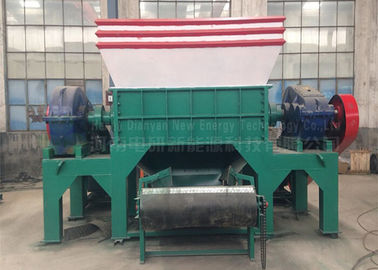 China Two Shaft Car Tire Recycling Plant Waste Tyre Recycling Mchine Custom Color distributor